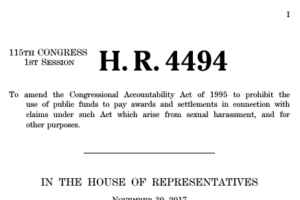 House Leadership, Pass H.R. 4494, the Congressional Accountability and Hush Fund Elimination Act